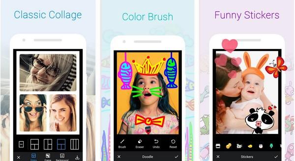 Les 10 meilleurs applications pour des Selfies avec des effets et autocollants