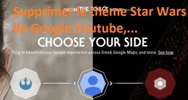 Supprimer le thème Star Wars de Google