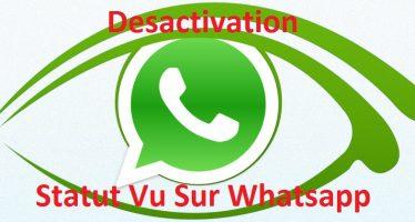 Comment désactiver le statut «Vu» sur WhatsApp