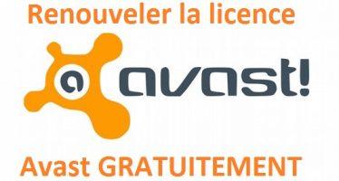 Comment renouveler gratuitement sa licence Avast