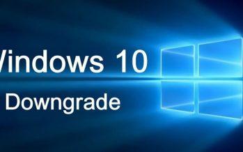 Comment désinstaller Windows 10 et revenir à Windows 7 ou 8.1
