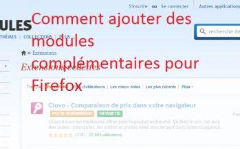 Modules complémentaires pour Firefox