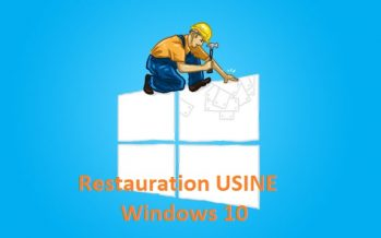 Comment restaurer Windows 10 à l'état usine