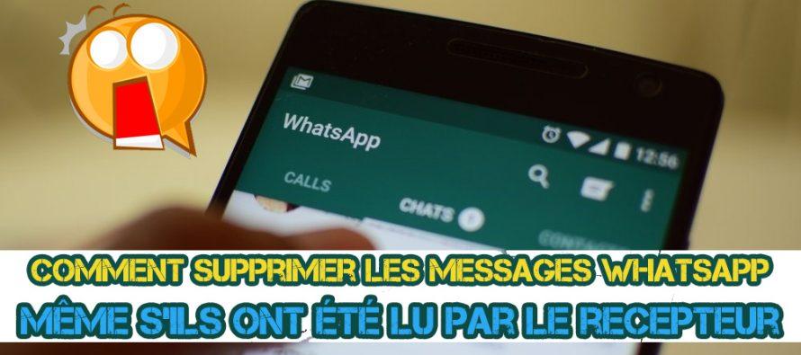 Exclusive: Comment supprimer les messages envoyé sur Whatsapp même s'ils ont été lu par le recepteur