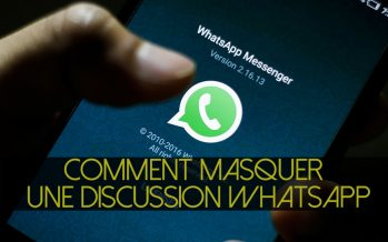 Comment masquer une discussion WhatsApp ?