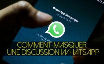 Comment masquer une discussion WhatsApp ?