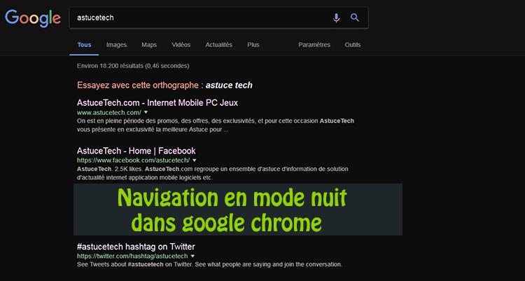 Comment utiliser la navigation en mode nuit dans Google Chrome