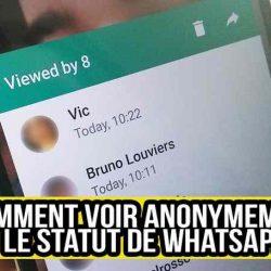 Comment regarder anonymement le statut de Whatsapp