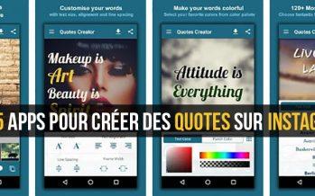 Top 5 Applications pour créer des Citations sur Instagram pour Android et iOS