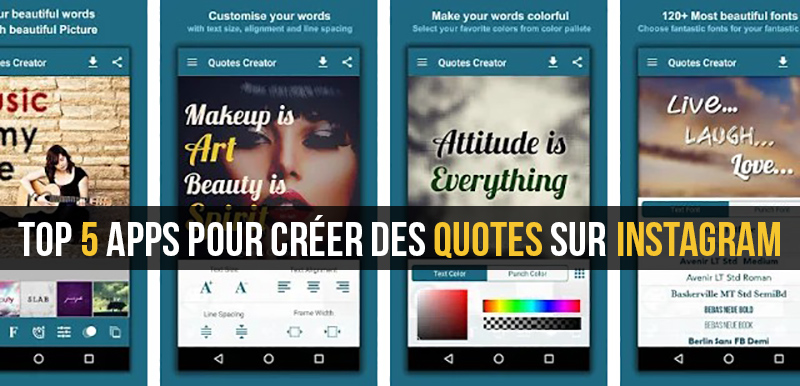 top 5 applications pour cr u00e9er des citations sur instagram pour android et ios