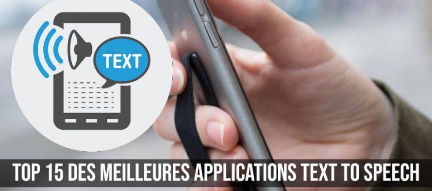 Top 15 des meilleures applications Text To Speech pour Android et iOS