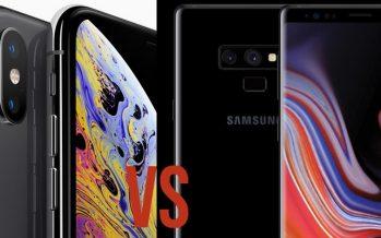 Samsung Galaxy Note9 vs iPhone Xs Max: le titre des poids lourds