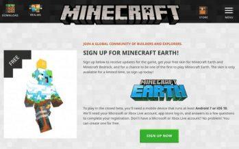 Comment s'inscrire à la toute nouvelle version bêta de Minecraft Earth