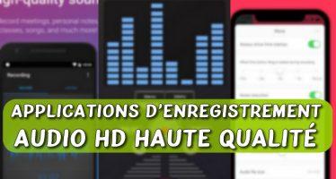 7 applications gratuites d'enregistrement audio HD haute qualité avec réduction du bruit