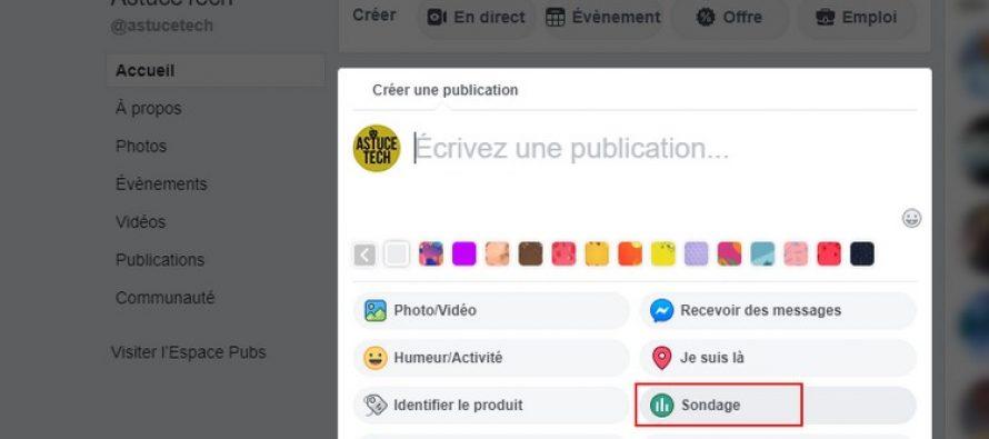 Comment créer un sondage sur Facebook