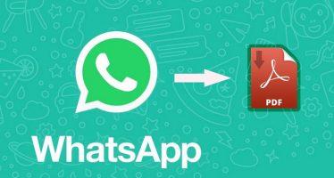 Comment exporter la conversation WhatsApp au format PDF
