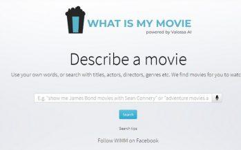 Un site qui vous aide à connaître le nom du film en écrivant une description ou tout ce dont vous vous souvenez